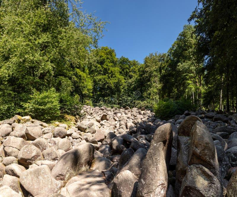 Głazu strumień Lautertal zdjęcie stock
