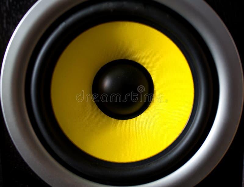Głośnik audio wyizolowany na białym tle zdjęcia stock