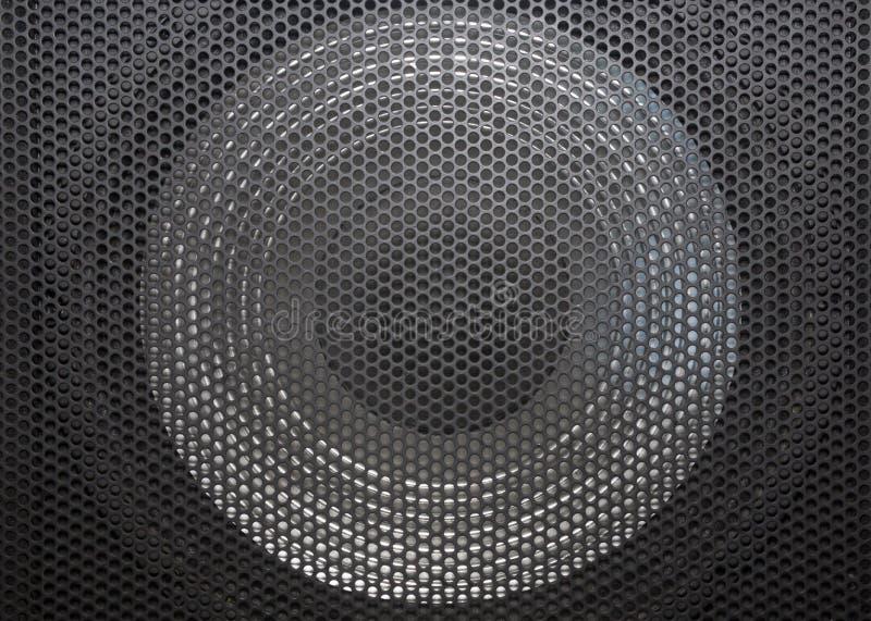 Głośnik siatka z round otwarciami fotografia stock