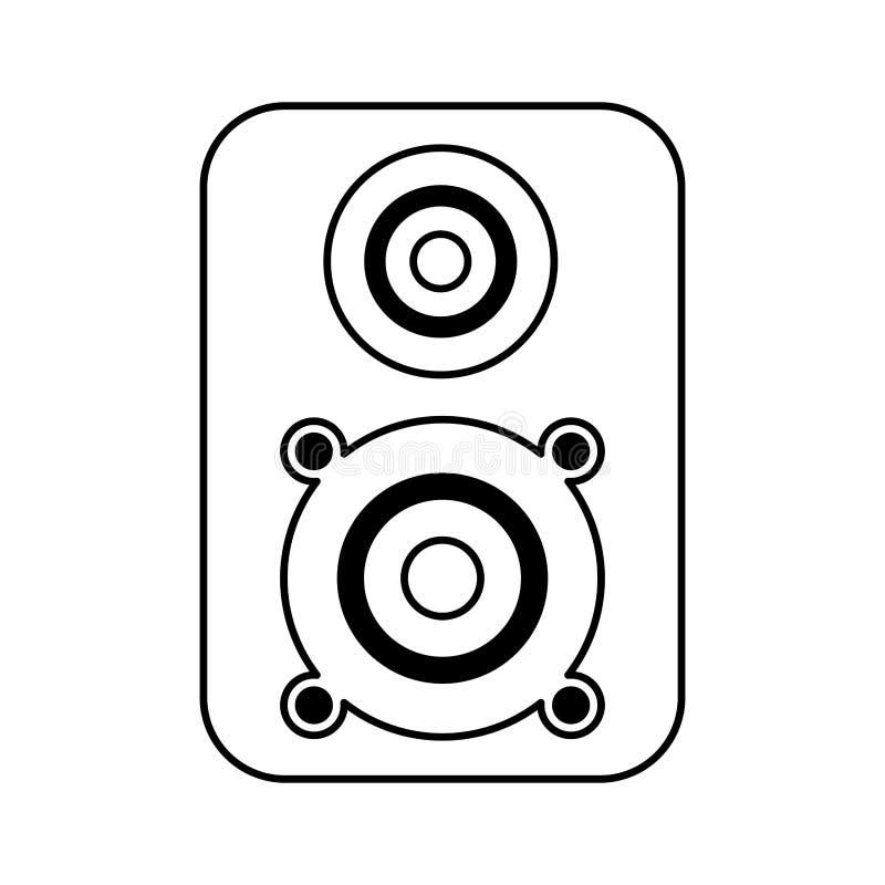 Głośnikowej muzyki odosobniona ikona ilustracji