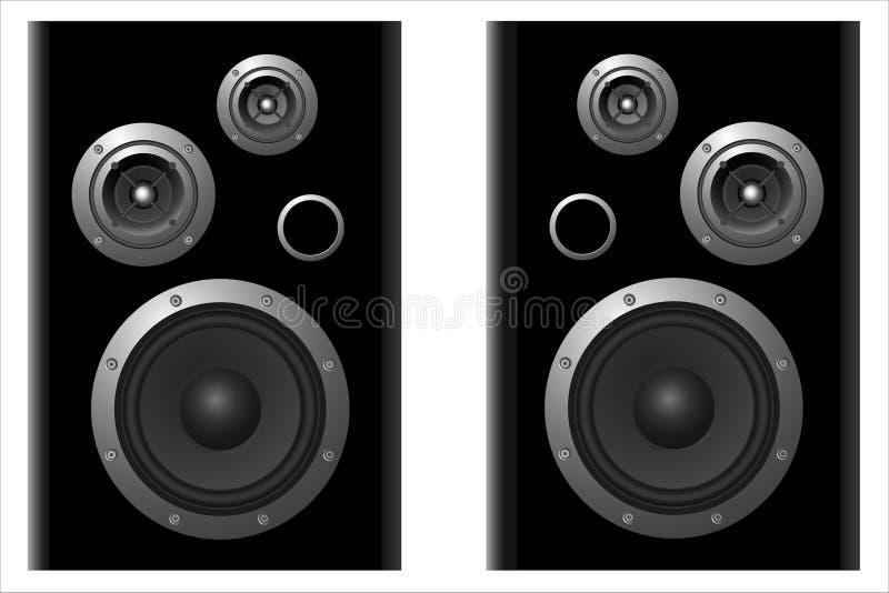 głośnikowi systemy dwa ilustracja wektor
