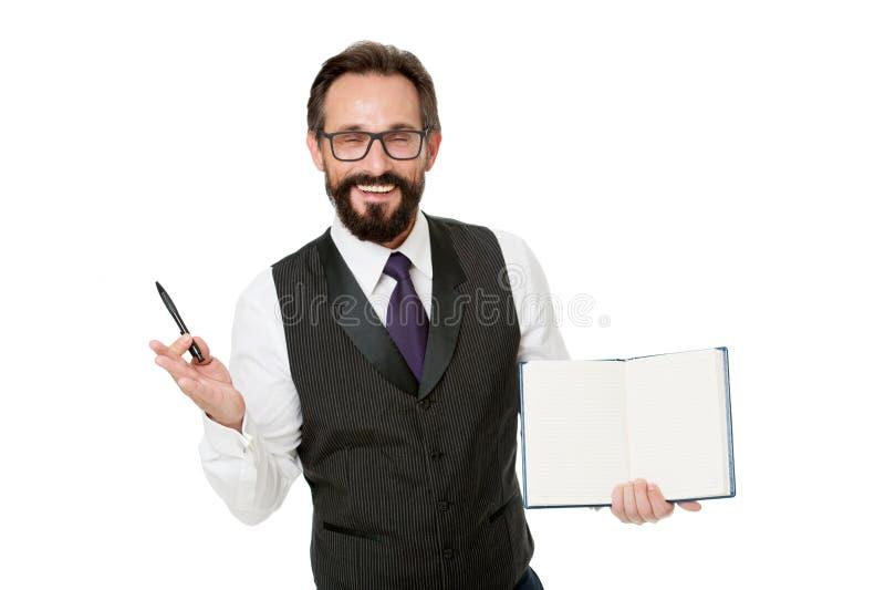 Głośnikowy biznesowej konferencji odosobniony biel Łączy elita akademii biznesowego wydarzenie Mężczyzn ubrań chwyta notepad form zdjęcia stock