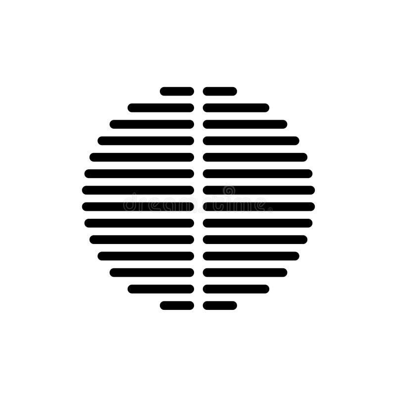 Głośnikowy dynamiczny czarny wektorowy grille szablon ilustracja wektor