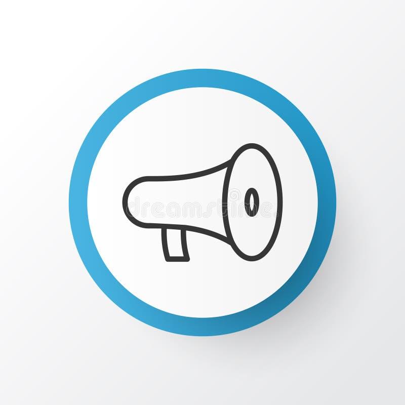 Głośnikowy ikona symbol Premii ilości megafonu element W Modnym stylu ilustracja wektor