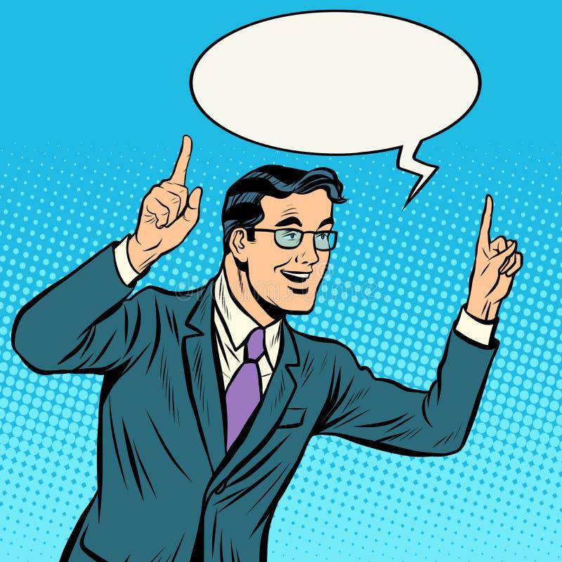 Głośnikowy polityka mężczyzna ilustracja wektor