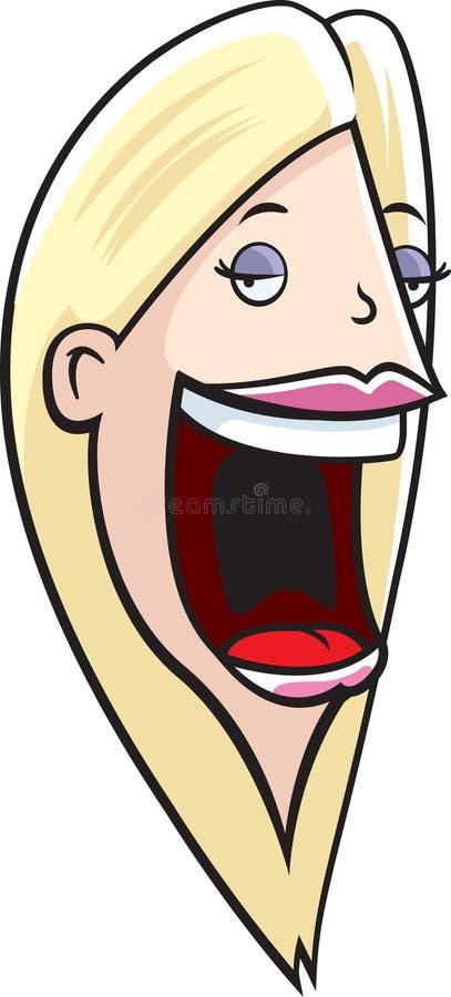 głośno usta ilustracja wektor
