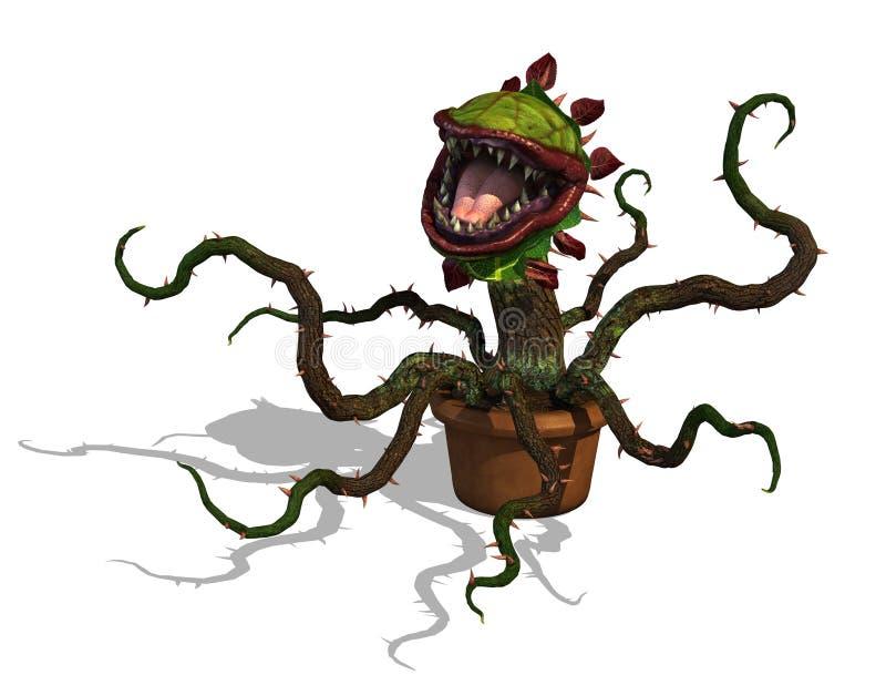 Głodna Mięsożerna roślina ilustracja wektor