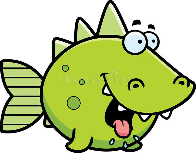 Głodna Prehistoryczna ryba royalty ilustracja