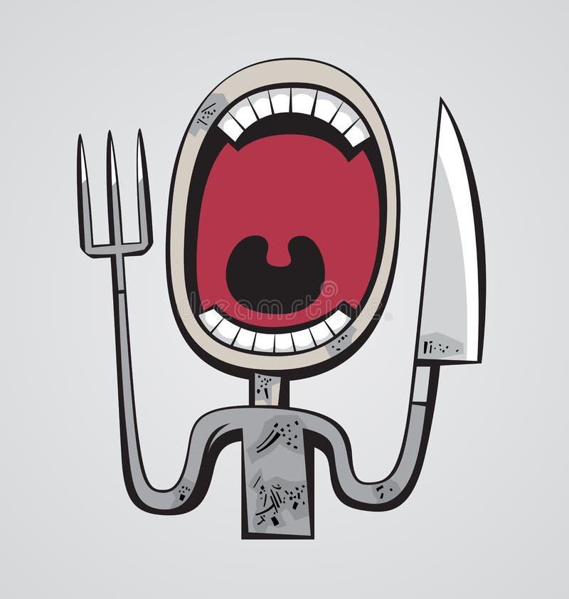 Głodny gardło ilustracji