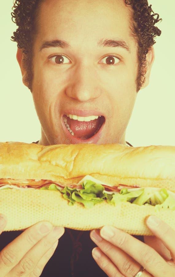 Głodny mężczyzna łasowanie obraz stock