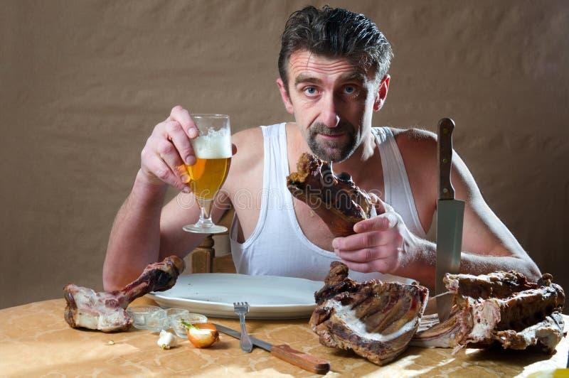 głodny mężczyzna zdjęcia stock