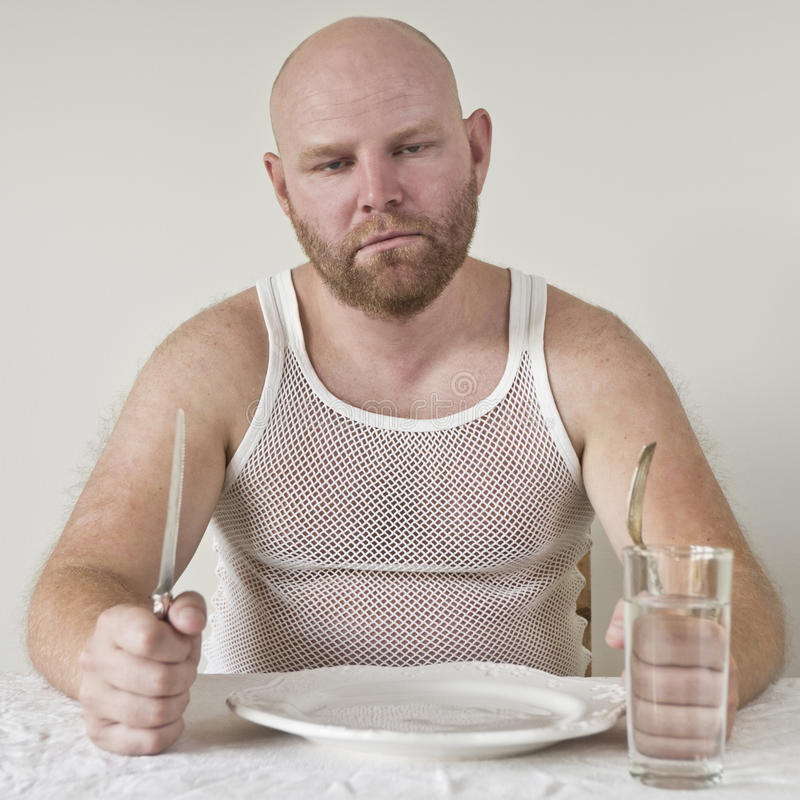 Głodny mężczyzna zdjęcie royalty free