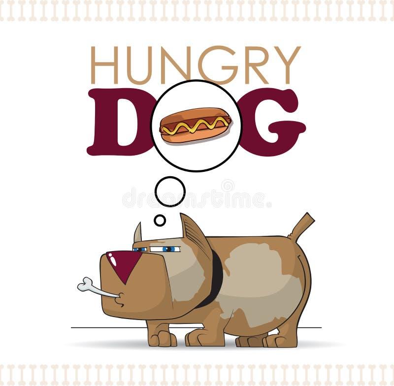 Głodny pies. ilustracji