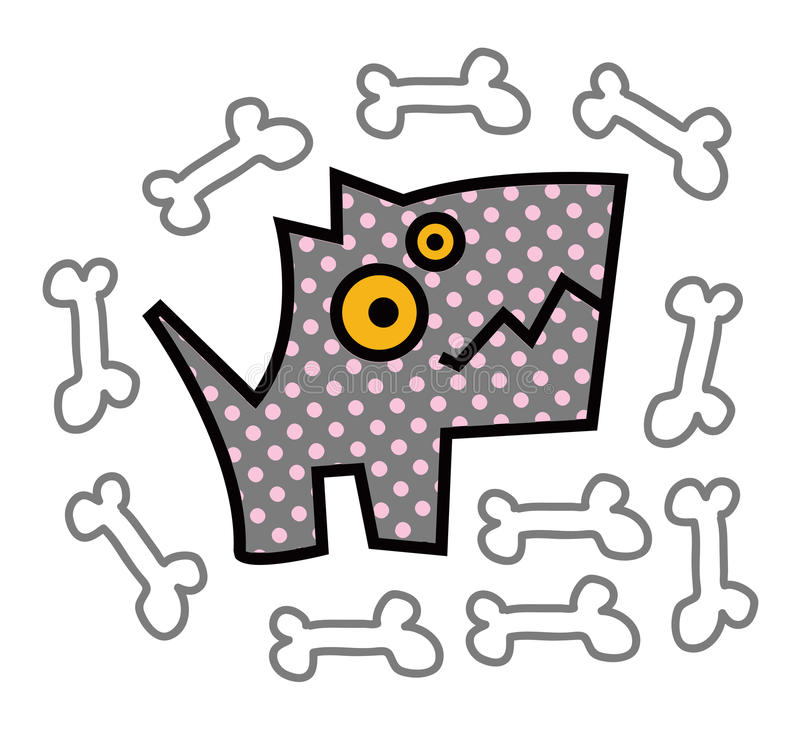Głodny pies ilustracji