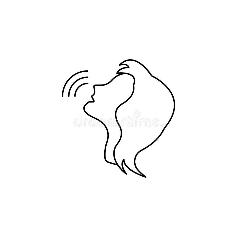 Głos kontrolnej linii nakazowa ikona Osoby Opowiadać royalty ilustracja