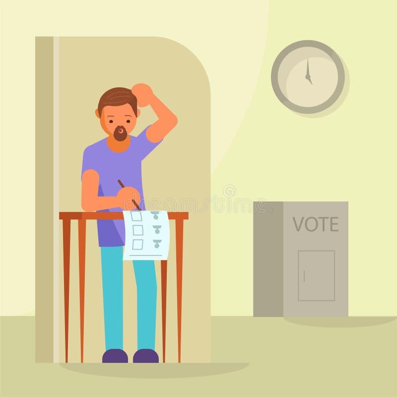 Głosować i wybory pojęcia wektorowa płaska ilustracja royalty ilustracja