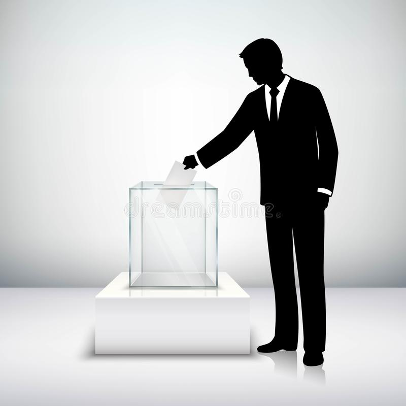 Głosować wybory pojęcie royalty ilustracja