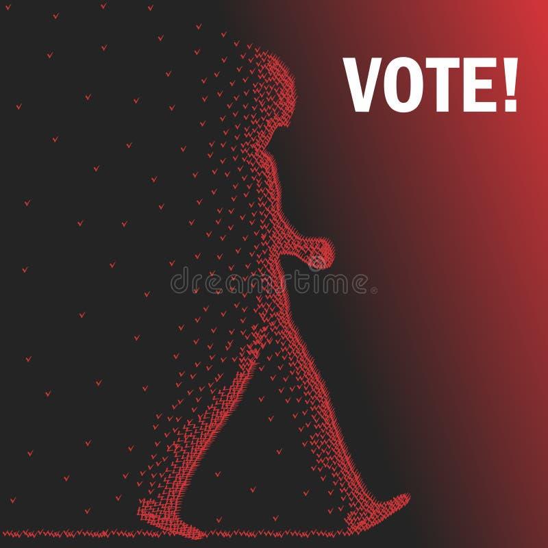 głosowania royalty ilustracja