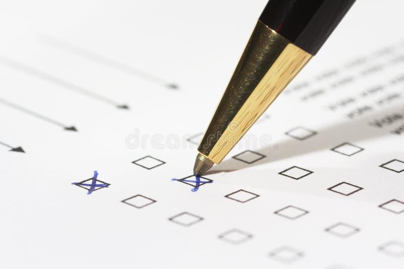 głosowania obraz stock