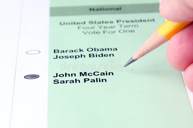 głosowania fotografia stock