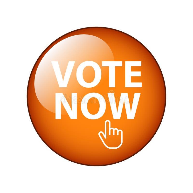 Głosowania teraz guzik ilustracja wektor