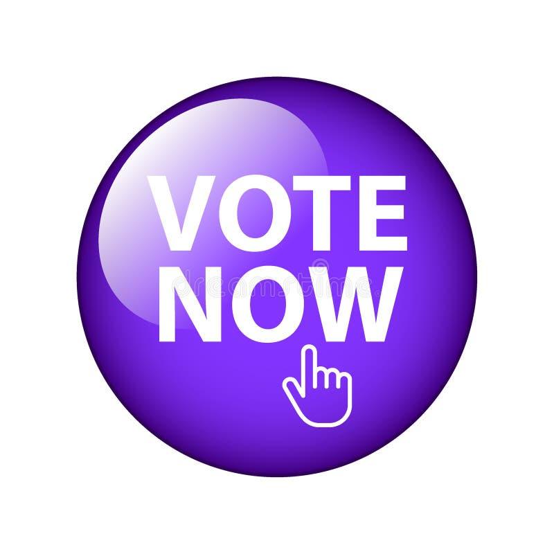 Głosowania teraz guzik royalty ilustracja