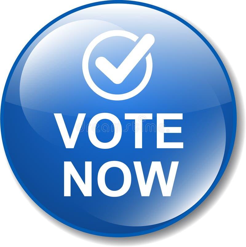 Głosowania teraz guzika ikona ilustracja wektor
