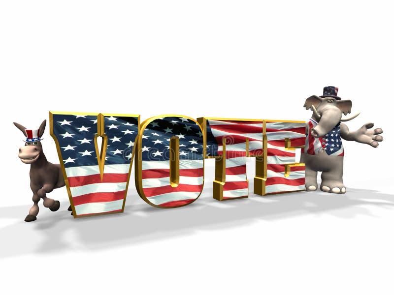 głosowanie 1 royalty ilustracja