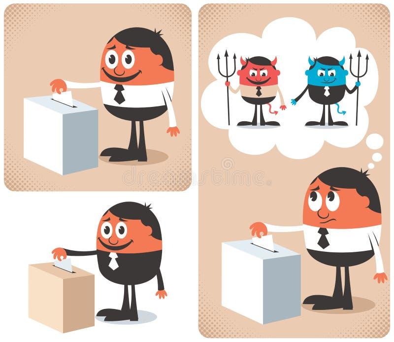 Głosowanie royalty ilustracja