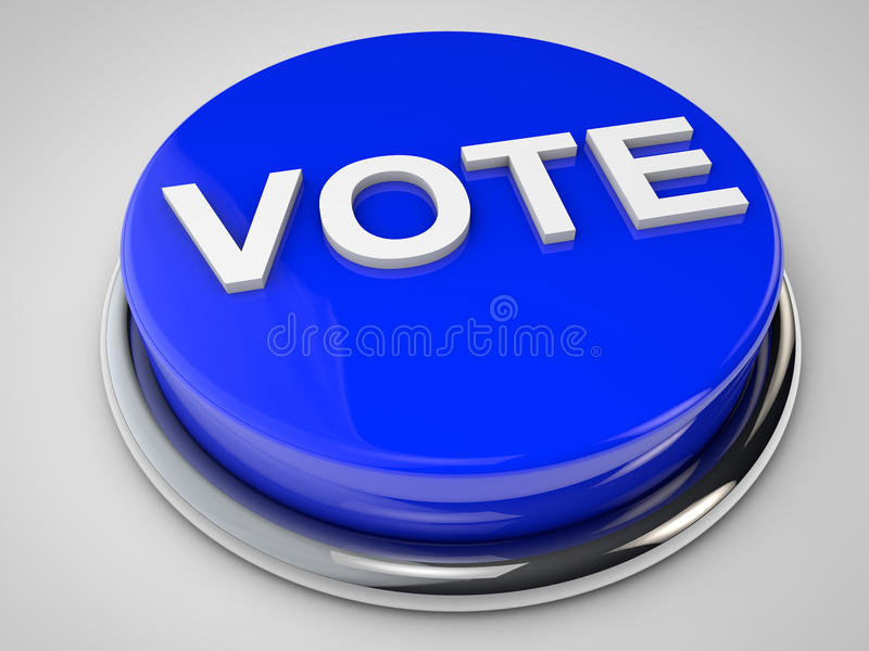 Głosowanie ilustracja wektor