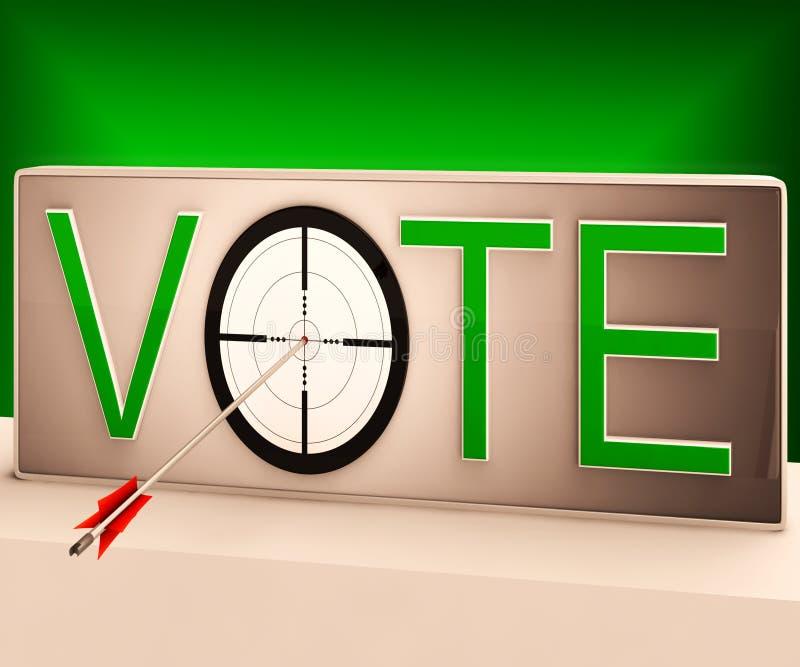 Głosowanie cel Pokazuje Szacunkowego wybór I decyzję ilustracji