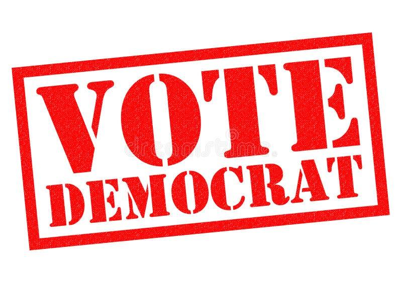 Głosowanie demokrata royalty ilustracja