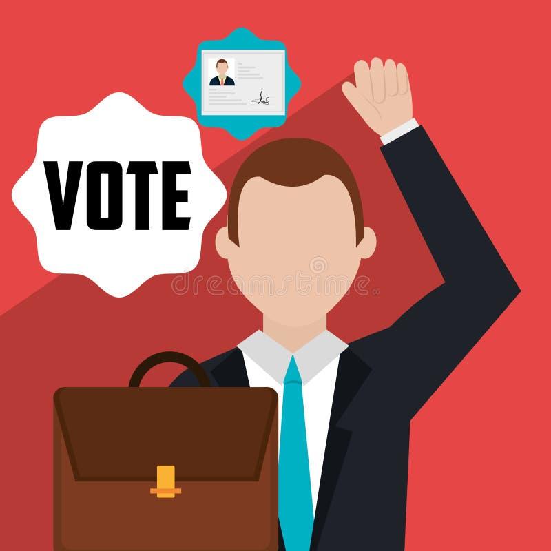 Głosowanie i polityk kampania royalty ilustracja