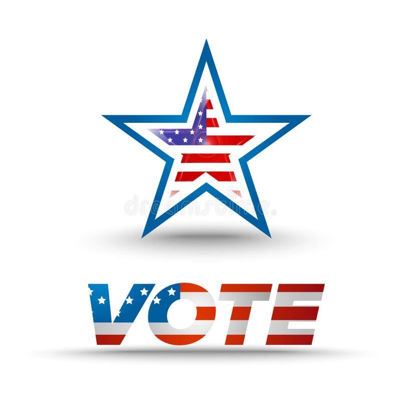Głosowanie odznaka dla wybory ilustracja wektor