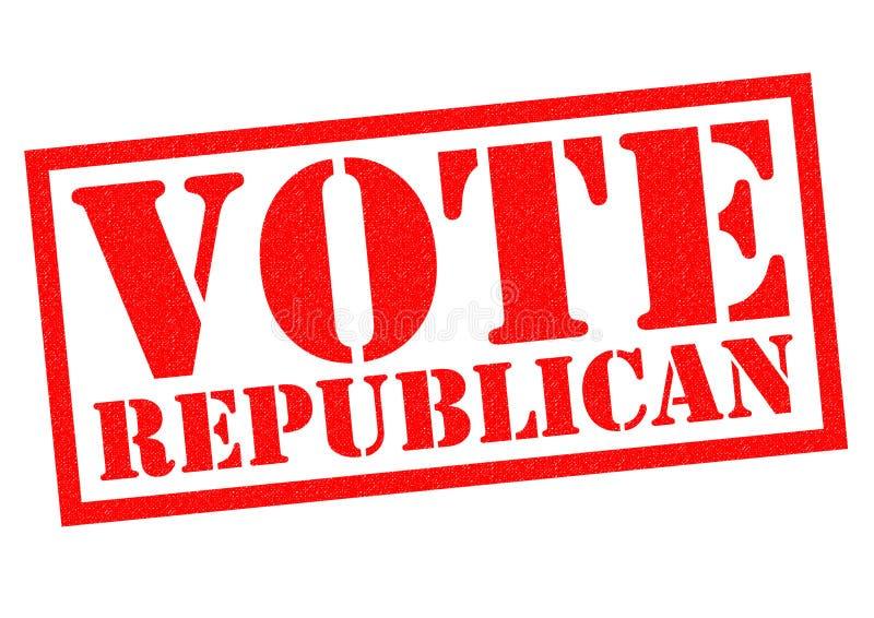 Głosowanie republikanin royalty ilustracja
