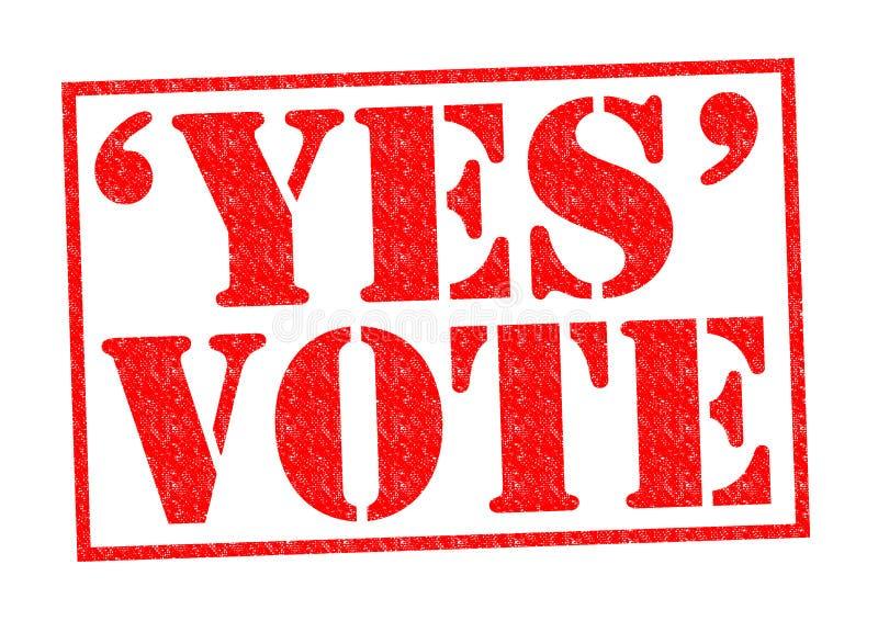 głosowanie tak ilustracja wektor