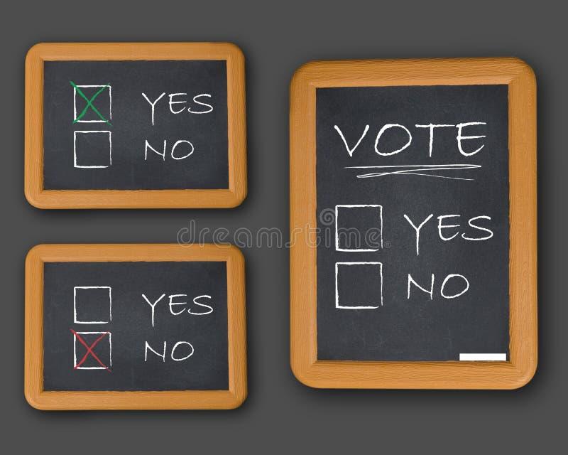Głosowanie tak lub nie ilustracja wektor