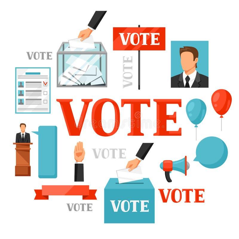 Głosowanie wyborów polityczny pojęcie Ilustracja dla ulotek, stron internetowych i flayers kampanii, ilustracja wektor