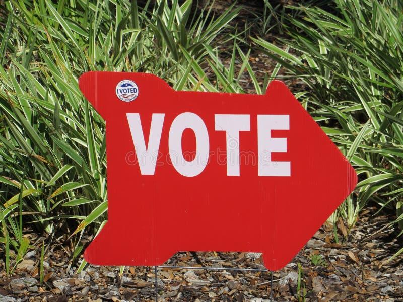 Głosowanie znak, Tampa, Floryda zdjęcia royalty free