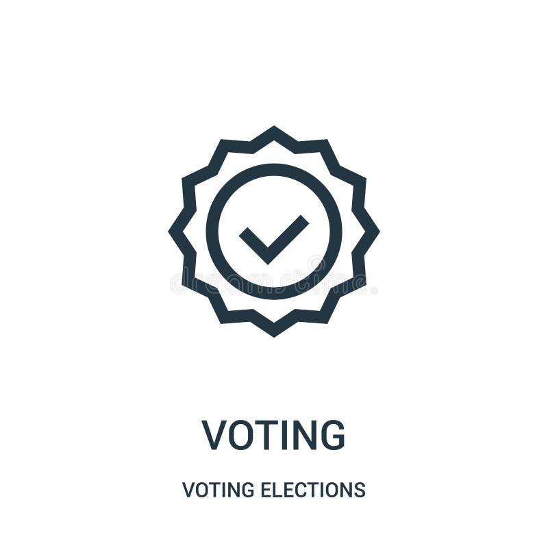 głosujący ikona wektor od głosować wybory inkasowych Cienka linia głosuje kontur ikony wektoru ilustrację ilustracji