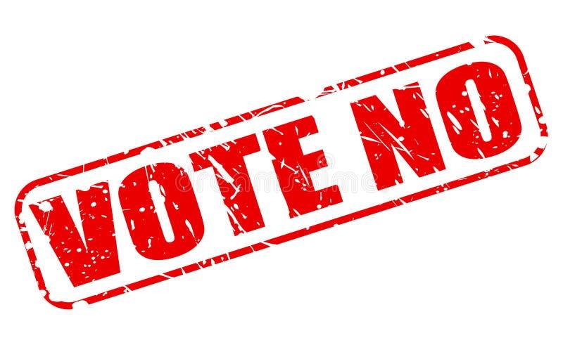 Głosuje żadny czerwonego stemplowego tekst ilustracji