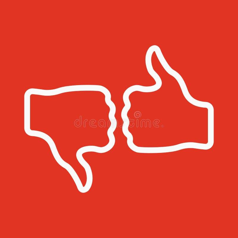 Głosuje ikona Głosowanie jak symbol i mieszkanie ilustracja wektor