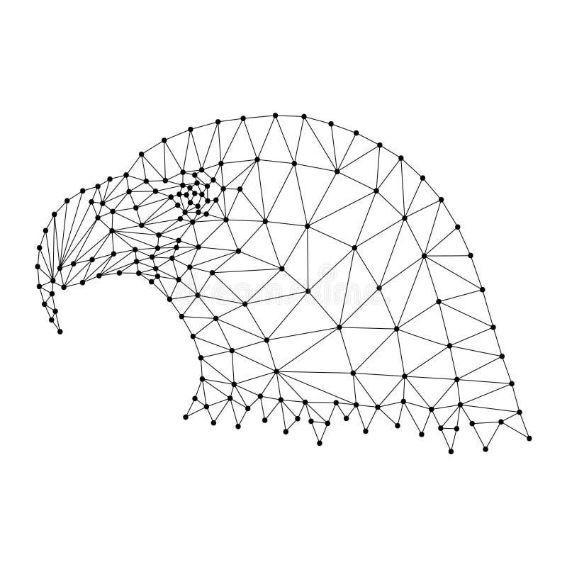 Głowa łysy orzeł, krajowy symbol Stany Zjednoczone od royalty ilustracja