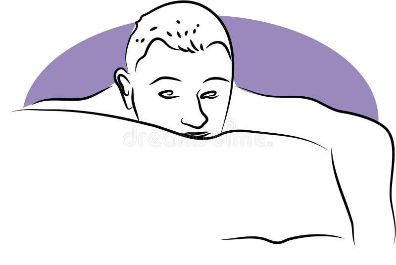 Download Głowa śpiący ilustracja wektor. Ilustracja złożonej z ponury - 126951