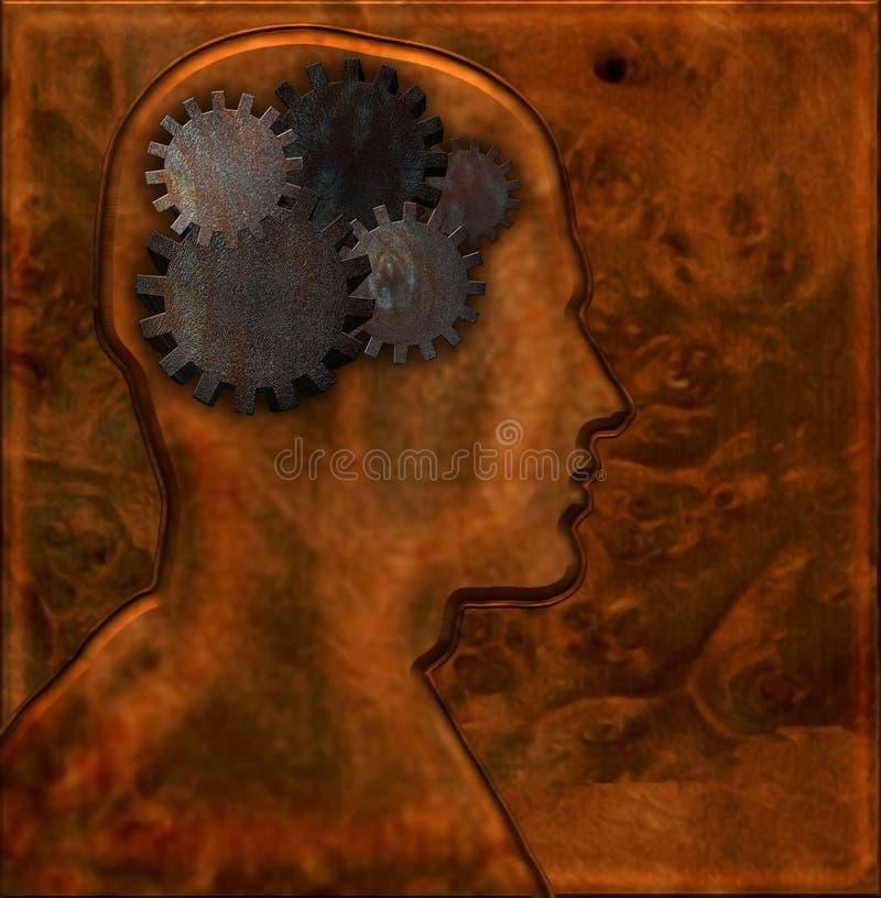 głowa biegów ilustracja wektor