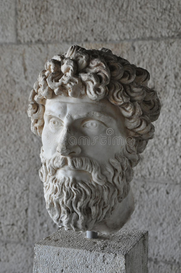 Głowa brodata mężczyzna statua obraz royalty free