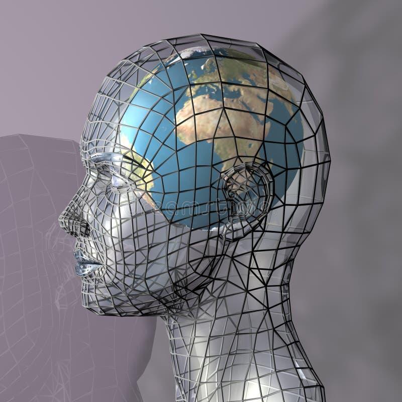 głowa globus mieszkalnictwa ilustracji
