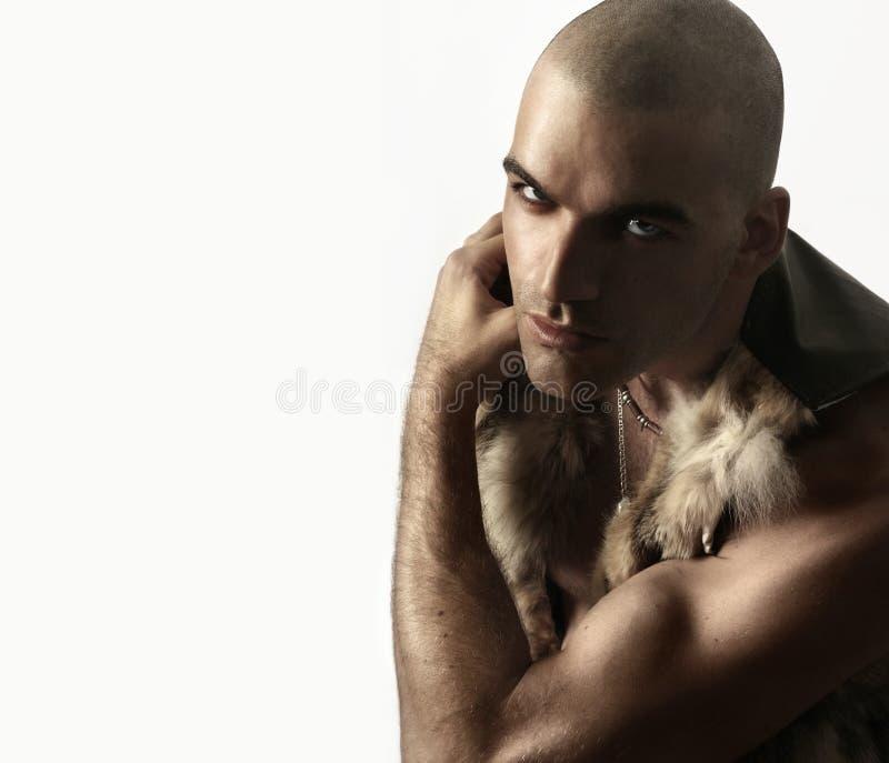 głowa goljąca zdjęcie royalty free