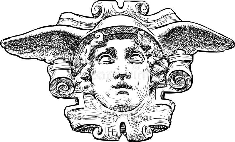 Głowa Hermes royalty ilustracja