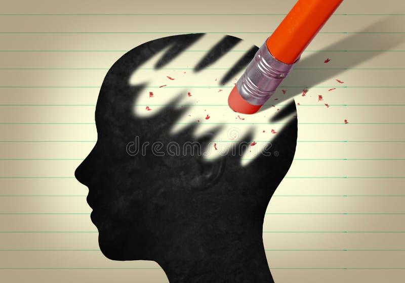 Głowa i guma royalty ilustracja